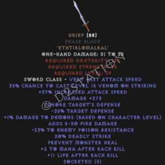 Grief Phase Blade - Perfect