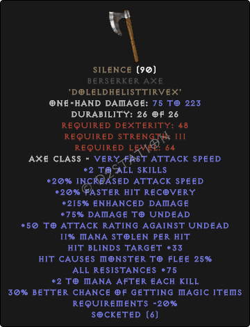 Silence Berserker Axe