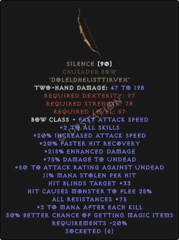 Silence Crusader Bow
