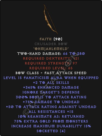 Faith Crusader Bow - Perfect